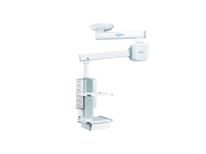 jual double arm motorized pendant, instalasi gas medis, standar instalasi gas medis